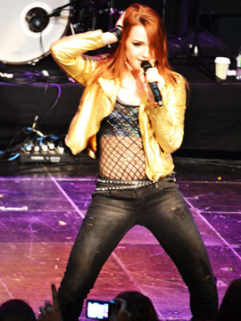 Victoria Duffield performs at the CHUM Fan Fest CMW
