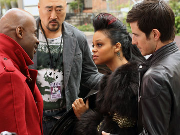 Wesley Williams, Fefe Dobson, Craig Olejnik, far right,, Jung Yul Kim, centre the listener