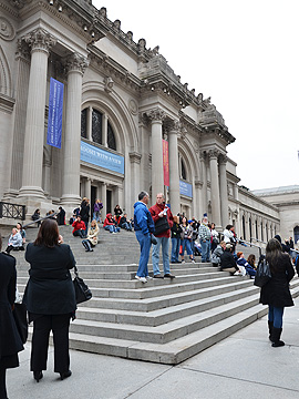 NYC New York Gossip Girl - The Met steps, which lead up to the Metropolitan Museum of Art