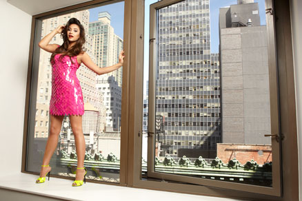 Shay Mitchell at Wall Street Andaz with Faze