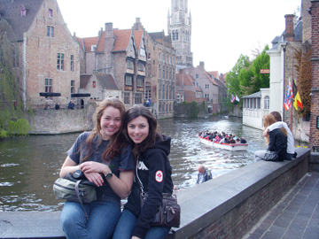 Brittany Mahaney, canals in Bruges