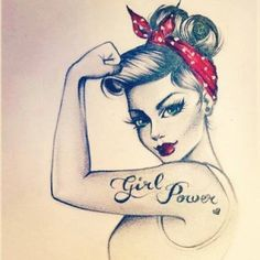 girl power tat