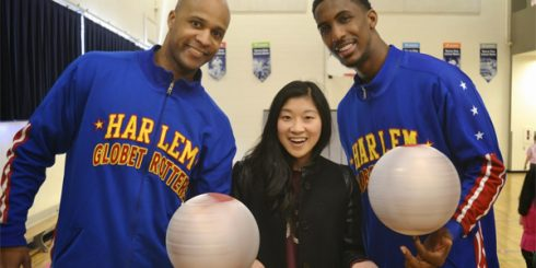 Harlem Globetrotters, Flight Time, Bull, Christina Dun