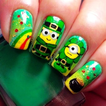 St. Patty Nails Minions