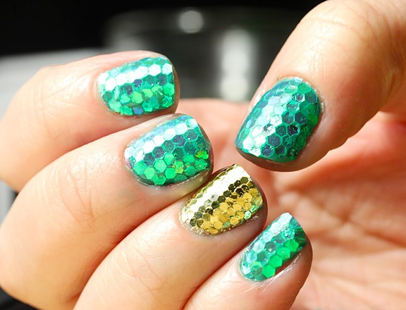 St. Patty Nails mermaid