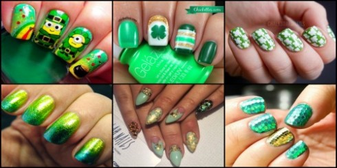 St. Patty Nails Faze Collage