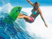 Surfer Layne Beachley Riding The Wave To Glory