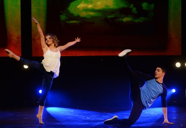 Brittany and Trevor while dancing in the show 'The Next Step'