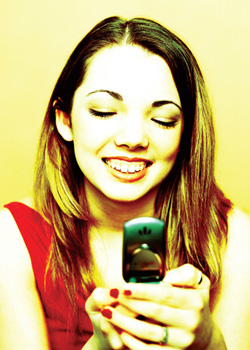 Girl on cell-phone