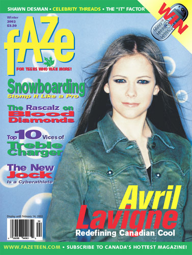 Avril Lavigne's First Faze Magazine Cover