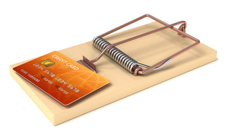 Credit Card in Mousetrap