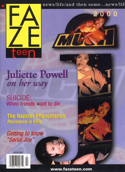 Faze Issue 3 Cover - Fall 2000 - Juliette Powell