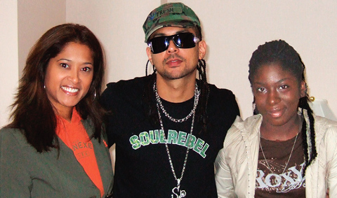 Sean Paul, Lorraine Zander and Shenieka Russell-Metcalf