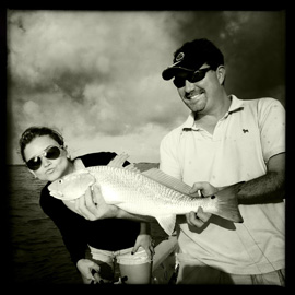 Louisiana Coast Recovery. Dana Krook fishing with Steve Wewerka