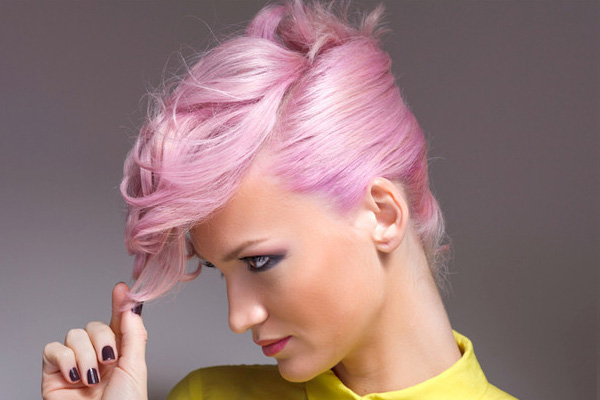 Beautiful pink dye hair