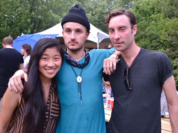 Intern Christina with The Black Lips at Osheaga