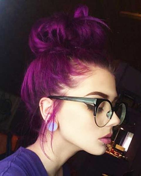 Beautiful Examples Of Purple Hair To Inspire You To