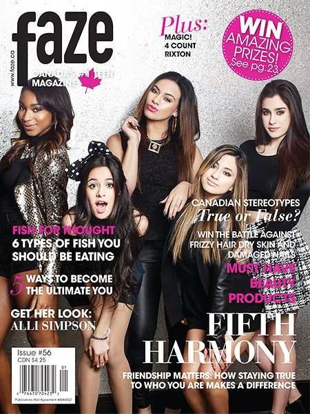 Fifth Harmony on cover Faze Magazine