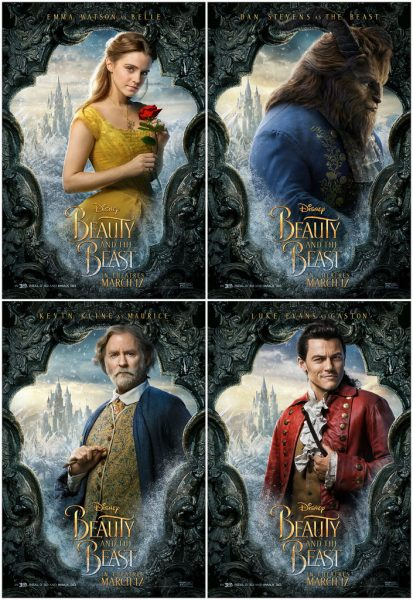 Four main characters of Beauty and the Beast