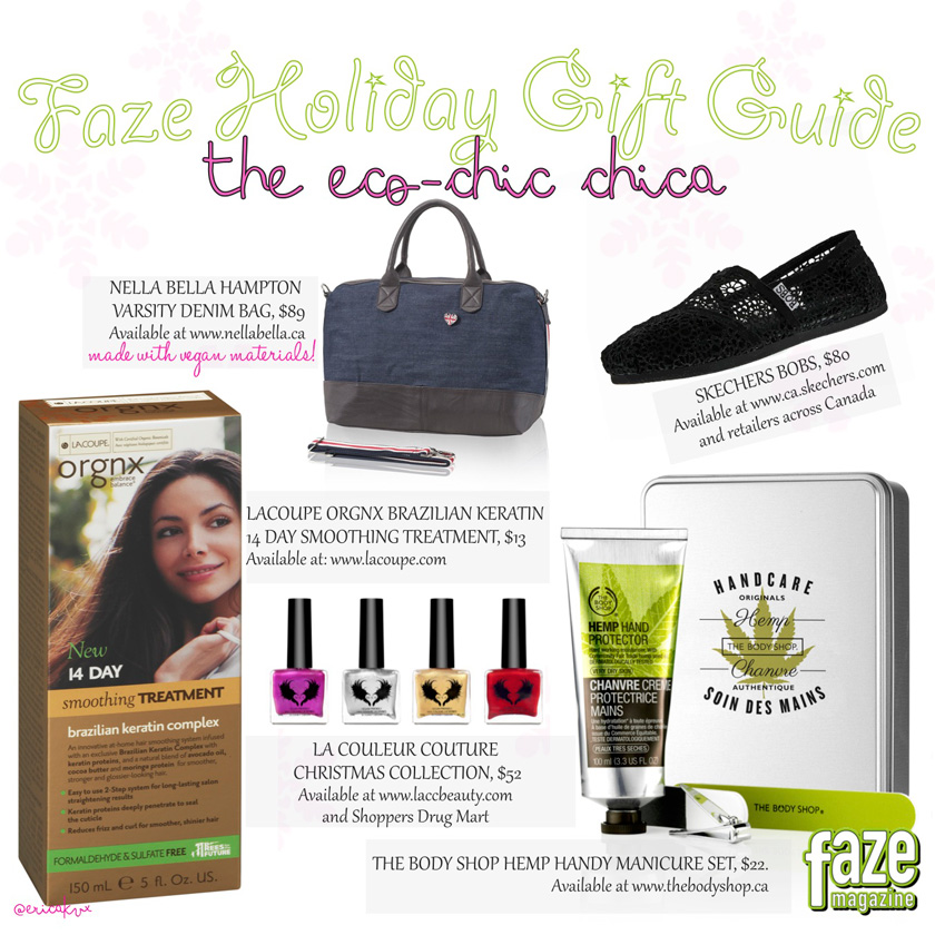 Holiday Gift Guide for The Eco Chic Chica Gifts