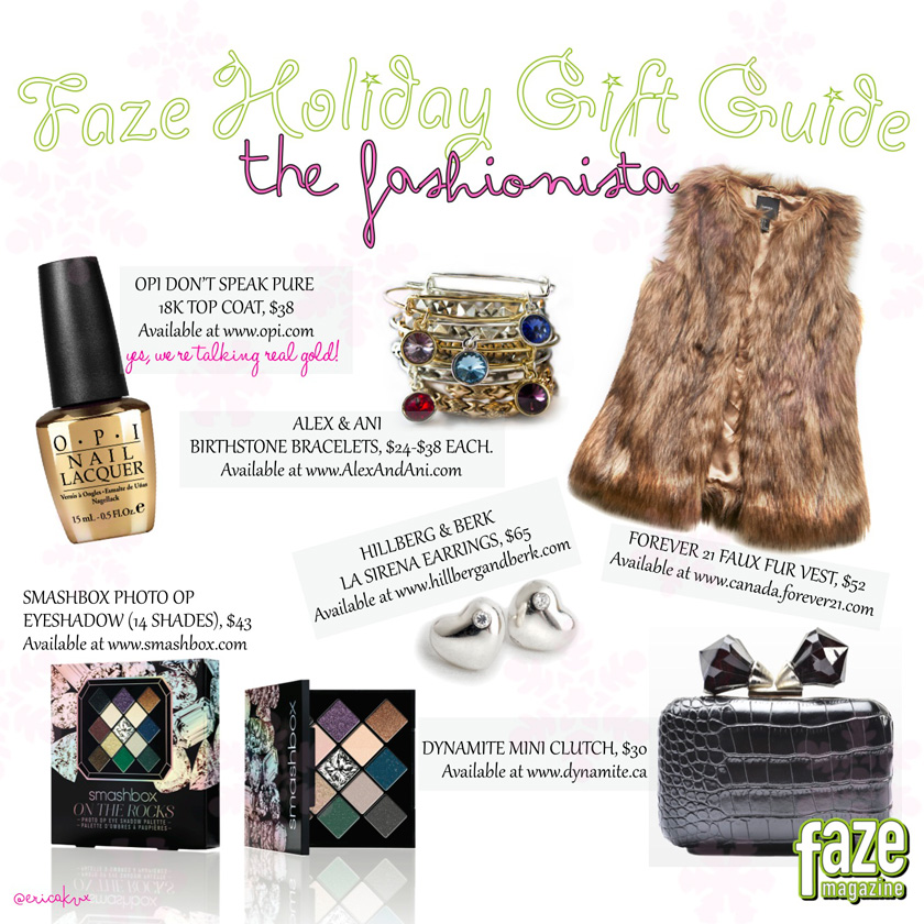 Holiday Gift Guide for The Fashionista Gifts