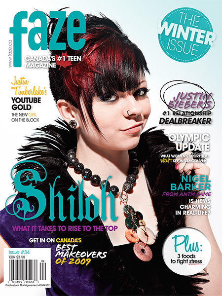 Shiloh on the cover of Faze Magazine