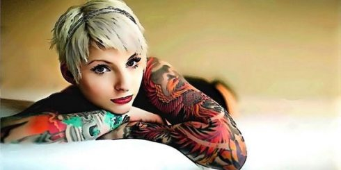 beautiful tattoo girl