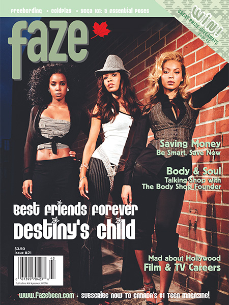Destiny's Child on the cover of Faze Magazine