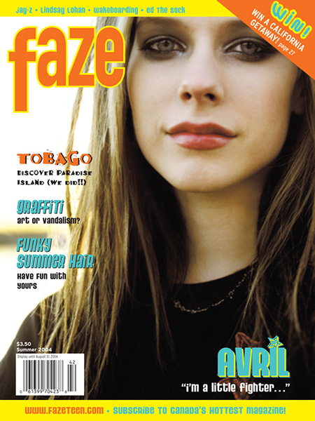 Avril Lavigne on the cover of Faze Magazine