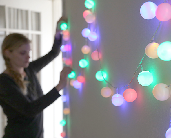 DIY Ping Pong String Light