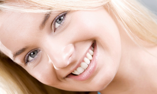 Smile Teeth Blond Girl
