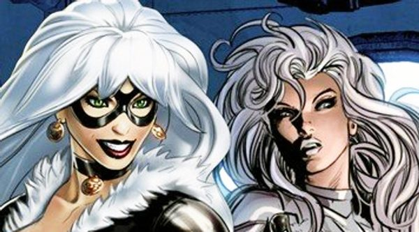 Silver & Black Spiderman Black Cat and Silver Sable