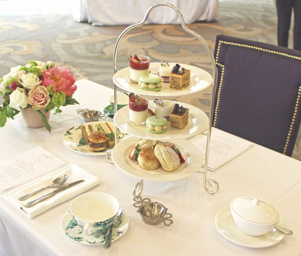 Omni King Edward Hotel Royal Wedding Afternoon Tea place setting for two
