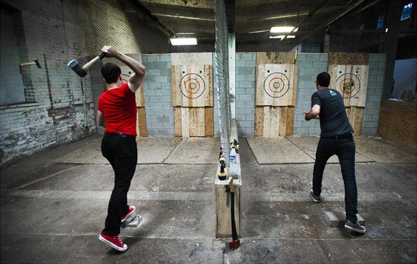 first date ideas - Axe Throwing