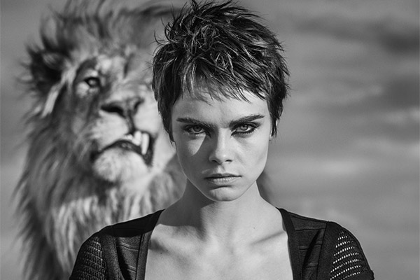 Cara Delevingne Lion Photoshoot Tag Heuer